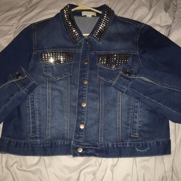 Forever 21 Jackets & Blazers - Studded jean jacket